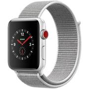 Apple Watch Series 3 (GPS + Cellularモデル) - 42mm シルバーアルミニウムケース と シーシェルスポーツループ [MQKQ2J/A]