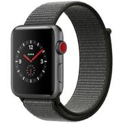 Apple Watch Series 3 (GPS + Cellularモデル) - 42mm スペースグレイアルミニウムケース と ダークオリーブスポーツループ [MQKR2J/A]