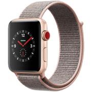 Apple Watch Series 3 (GPS + Cellularモデル) - 42mm ゴールドアルミニウムケース と ピンクサンドスポーツループ [MQKT2J/A]