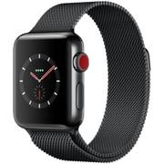Apple Watch Series 3 (GPS + Cellularモデル) - 38mm スペースブラックステンレススチールケース と スペースブラックミラネーゼループ [MR1Q2J/A]