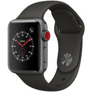 Apple Watch Series 3 (GPS + Cellularモデル) - 38mm スペースグレイアルミニウムケース と グレイスポーツバンド [MR2Y2J/A]