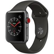 Apple Watch Series 3 (GPS + Cellularモデル) - 42mm スペースグレイアルミニウムケース と グレイスポーツバンド [MR302J/A]