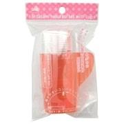 コップ付折りたたみ歯ブラシセット(ハミガキ粉&コップ付き) ピンク