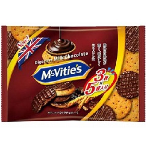 マクビティミルクチョコレート袋 15枚