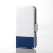 AVA-T17PLFDTWH [iPod Touch ソフトレザーカバー ツートンタイプ ホワイト×ブルー]