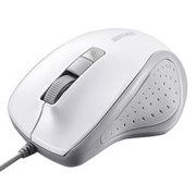 BSMBU308WH [有線BlueLED光学式マウス 静音 5ボタン ホワイト]