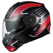KAZAMI XCEVA S フラットブラックレッド [システムヘルメット]