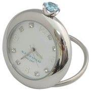 K11-010-009 [Ring Birth Clock スワロフスキー アクアマリン 3月]