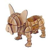 Wooden Art ki-gu-mi Living フレンチブルドッグ リモコンケース [クラフトトイ 対象年齢:4歳以上]