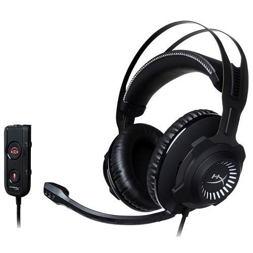 HXR-HSCRS-GM/AS [ゲーミングヘッドセット HyperX Cloud Revolver S ブラック/ホワイト USBオーディオコントロールボックス付属]
