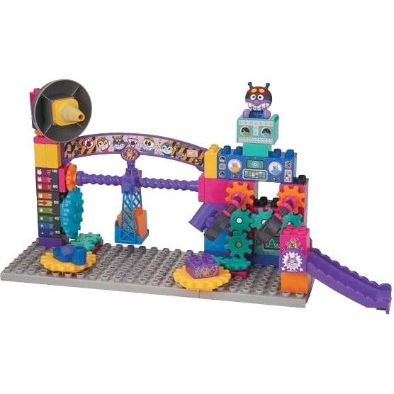ブロックラボ アンパンマン ばいきんまんのくるくるメカ工場ブロックバケツ [対象年齢 3歳~]
