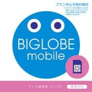 BIGLOBEモバイル SIMパッケージ [標準SIMカード]