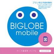 BIGLOBEモバイル SIMパッケージ [ナノSIMカード]