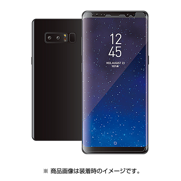 PM-SCN8FLFPRG [Galaxy Note 8 衝撃吸収 透明 光沢 液晶保護フィルム]