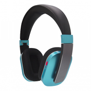Q-music HDP5 BG [折りたたみ式密閉型 Bluetooth4.0対応 ワイヤレス・ヘッドフォン (有線接続可、USB充電) ブルー・バイ・グリーン]