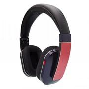 Q-music HDP5 NR [折りたたみ式密閉型 Bluetooth4.0対応 ワイヤレス・ヘッドフォン (有線接続可、USB充電) ネイビー・アンド・レッド]