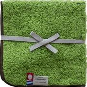 356 潤いのタオル トプカプ タオル ハンカチ グリーン (グリーン×茶)