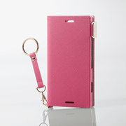 PD-SO02KPLFJPND [Xperia XZ1 Compact ソフトレザーカバー 女子向 磁石 ストラップ付 ディープピンク]