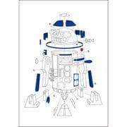 スター・ウォーズ A7メモ 設計図 R2-D2 [キャラクターグッズ]
