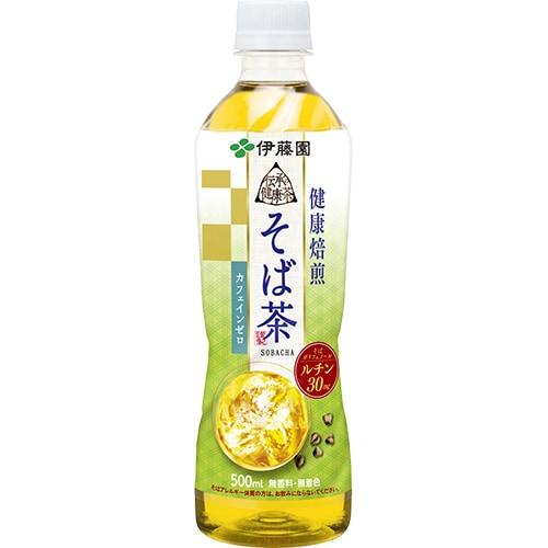 伝承の健康茶 健康焙煎 そば茶 PET 500ml×24本 [お茶]