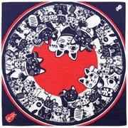 67178 [Kenema 手捺染小風呂敷 猫手まねき]