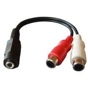 FAD-808SP [変換接続ケーブル 3.5mmステレオミニジャック-ピン(RCA)ジャック×2 0.1m]