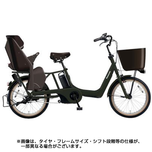 BE-ELMK03G [電動アシスト自転車 ギュット・アニーズ・KD 20型 16Ah 内装3段変速 ラクイック搭載 マットディープグリーン 2018年モデル]