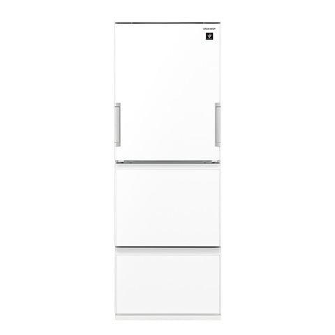 SJ-GW36D-W [プラズマクラスター冷蔵庫 (356L・どっちもドア) 3ドア ピュアホワイト]