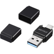 BSCRM118U3BK [USB3.0 Type-A/microB対応 microSD専用カードリーダー/ライター ブラック]