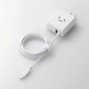 MPA-ACCFW154WF [スマートフォン・タブレット用AC充電器 USB Type-Cケーブル一体型 USB-Aメス付 1.5m 5V3A対応 ホワイトフェイス]
