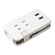 IPA-24AC2/WH [ACコンセント搭載 USB2ポートUSB-ACアダプタ ホワイト]