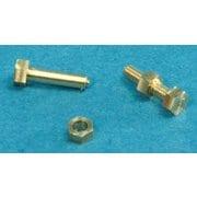 16110 [1/16 金属パーツ 六角ボルト15個&ナット10個真鍮削り出し(1.6×4.0mm)]