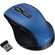 MUS-RKF144BL [BlueLED 無線 静音マウス Mサイズ F_line 5ボタン ブルー]