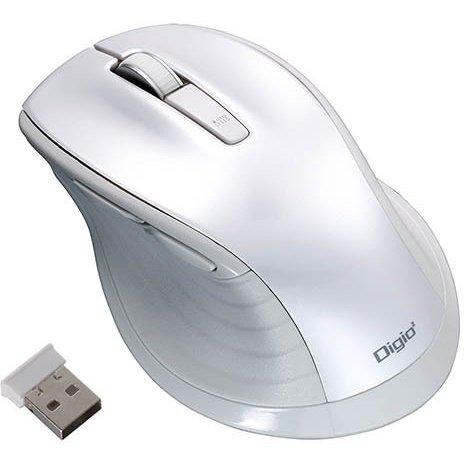 MUS-RKF147W [BlueLED 無線 静音マウス Lサイズ F_line 5ボタン ホワイト]