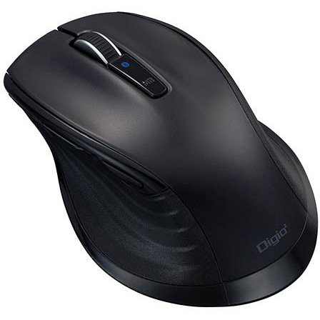 MUS-BKF149BK [BlueLED Bluetooth 静音マウス Lサイズ F_line 5ボタン ブラック]