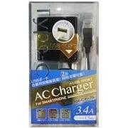 ACU-TC34ADK [USB1ポート+Type-C端子 3.4A出力 1.5m 黒]