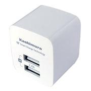 AJ-549 [AC充電器 USB×2 自動識別IC搭載 ホワイト]