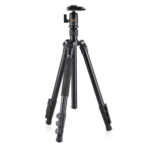 KF-TM2524(BK) [カメラ用アルミニウム三脚 4段(三脚・一脚兼用) ブラック]