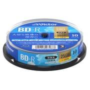 VBR130YP10SJ1 [BD-R(Video) <片面1層> 1回録画用 130分 1-4倍速 10枚スピンドルケース10P インクジェットプリンタ対応(ホワイト) ワイド印刷エリア対応]