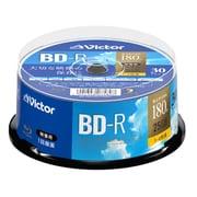VBR130YP30SJ1 [BD-R(Video) <片面1層> 1回録画用 130分 1-4倍速 30枚スピンドルケース30P インクジェットプリンタ対応(ホワイト) ワイド印刷エリア対応]