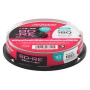 VBE130NP10SJ2 [BD-RE(Video) <片面1層> 繰り返し録画用 130分 1-2倍速 10枚スピンドルケース10P インクジェットプリンタ対応(ホワイト) ワイド印刷エリア対応]