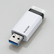 MF-PKU3016GWH [USBメモリ USB3.1(Gen1)対応 高速 ノック式 オートリターン機能付 セキュリティ 16GB ホワイト]
