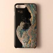 I8P-MK0-001-B [iPhone 8 Plus/7 Plus用ケース 高盛り蒔絵シリーズ 波裏富士]