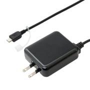 IPA-MC35/BK [ロングケーブル一体型 USB microB対応 充電用ACアダプタ ブラック]