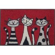AB00006 [玄関マット Three Cats 50×75 cm]