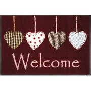 AB00091 [玄関マット Cottage Hearts red 50×75 cm]