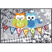 AB00241 [玄関マット Welcome Owls 50×75 cm]