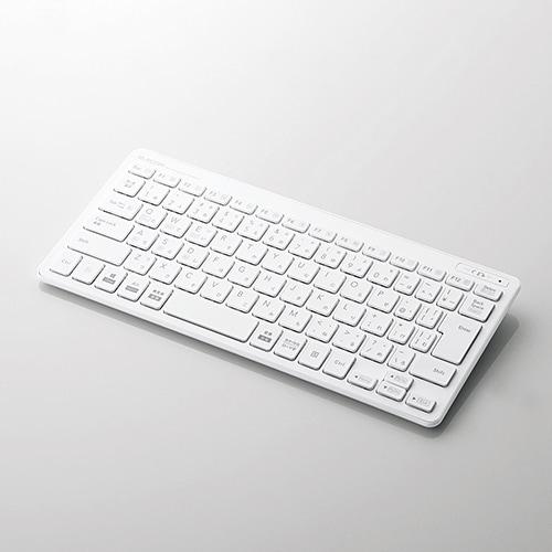 TK-FBP100WH [Bluetoothミニキーボード/パンタグラフ式/薄型/マルチOS対応/日本語配列/ホワイト]