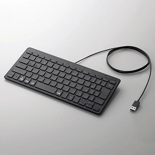 TK-FCP096BK [有線ミニキーボード/パンタグラフ式/薄型/日本語配列/ブラック]
