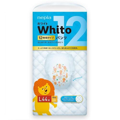 Whito(ホワイト) Lサイズ 12時間タイプ 44枚 [紙おむつ パンツタイプ]